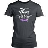 """Say No"" Yaya T-Shirt Gift for Yaya"