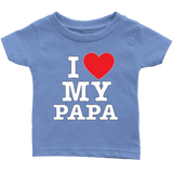 """I Love"" Papa Infant and Toddler T-Shirts Gift for Grandfather"