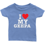 """I Love"" Geepa Infant and Toddler T-Shirts Gift for Grandfather"