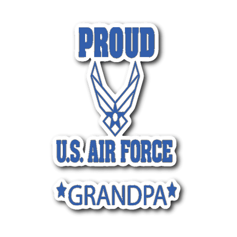 AIR FORCE Grandpa Car Window Sticker Gifts for Grandfather