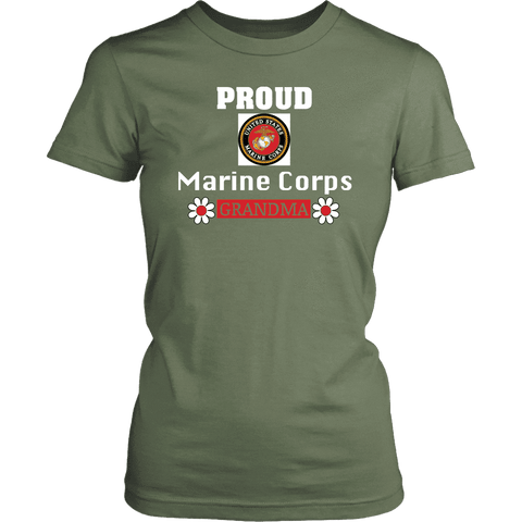 MARINE CORPS Grandma Women's T-Shirt Gift for Grandmother