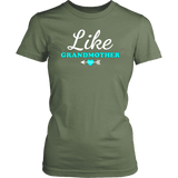 """Like Grandmother"" Grandma T-Shirts Gift for Grandmother"