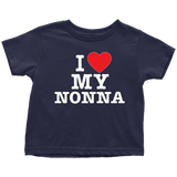 """I Love"" Nonna Infant and Toddler T-Shirts"