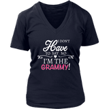 """Say No"" V-Neck Grammy T-Shirt Gift for Grammy"