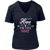 """Say No"" V-Neck Mimi T-Shirt Gift for Mimi"