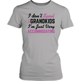"""Spoil Grandkids"" Women's T-Shirt Gifts for Grandparents"