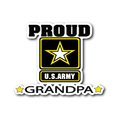 U.S. ARMY Grandpa Car Window Sticker gift for Grandfather