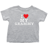 """I Love"" Grammy Infant and Toddler T-Shirts"