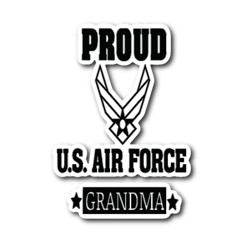 AIR FORCE Grandma Car Window Sticker Gifts for Grandmother