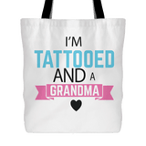 """Tattooed Grandma"" Cotton Tote Bag Gifts for Grandparents"
