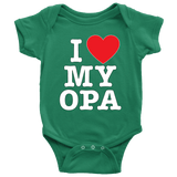 """I Love"" Opa Baby Onesie Gift for Grandad"