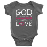 """God and Grandmothers"" Grandkids Baby Onesie"