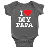 """I Love"" Papa Baby Onesie Gift for Papa"