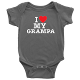 """I Love"" Grampa Baby Onesie Gift for Grandfather"