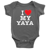 """I Love"" Yaya Baby Onesie Gift for Yaya"