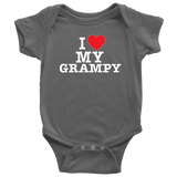 """I Love"" Grampy Baby Onesie Gift for Grandfather"