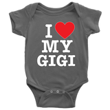 """I Love"" Gigi Baby Onesie Gift for Gigi"