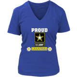 U.S. ARMY Grandma Women's V-Neck T-Shirt Gift for Grandmother