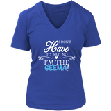 """Say No"" V-Neck Geema T-Shirt Gift for Grandmother"