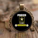 U.S. ARMY Grandma Unique Necklace gift for Grandmother