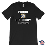 U.S. NAVY Grandpa Made In USA T-Shirt Gift for Grandfather