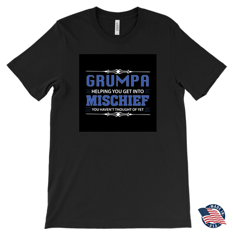 """Mischief"" Made in USA Grumpa T-Shirt Gift for Grandfather"