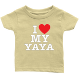 """I Love"" Yaya Infant and Toddler T-Shirts"