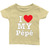 """I Love"" Pepe Infant and Toddler T-Shirts"