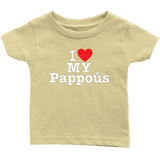 """I Love"" Pappous Infant and Toddler T-Shirts"
