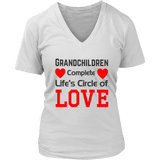 100% Cotton Women's V Neck Tshirt Gift for Grandparents