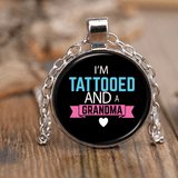 """Tattooed Grandma"" Unique Necklace Gift for Grandparents"