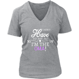 """Say No"" V-Neck Oma T-Shirt"