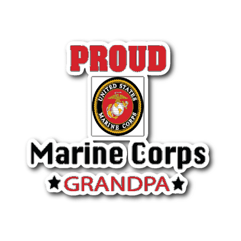 MARINE CORPS Grandpa Car Window Sticker gift for Grandfather