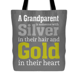 """Silver and Gold"" Grandparents Tote Bag Gift for Grandparents"