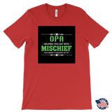 """Mischief"" Made in USA Opa T-Shirt Gift for Grandfather"