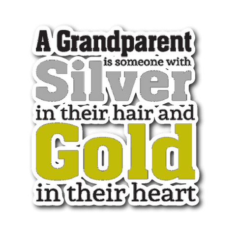 Silver and Gold Car Window Sticker Gifts for Grandparents