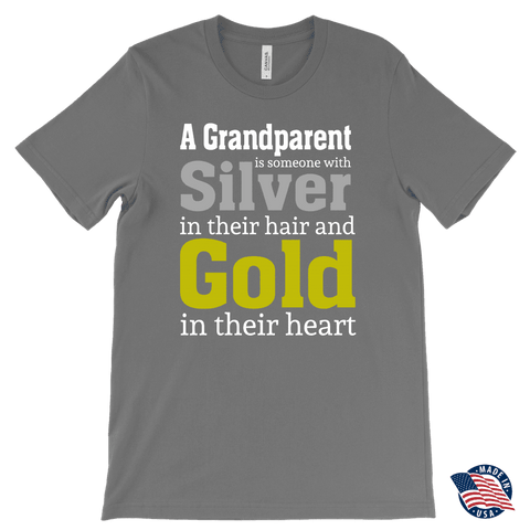 """Silver and Gold"" Grandparent Men's T-Shirts Gifts for Grandfather"
