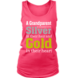 """Silver and Gold"" Grandparent Women's Tank Top Gifts for Grandparents"