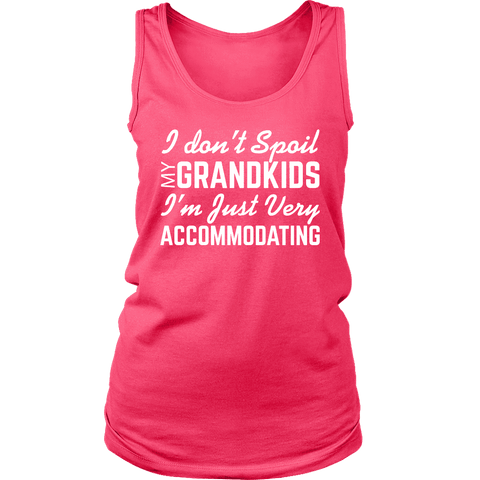 """Spoil Grandkids"" Women's Tank Top Logo Shirt Gift for Grandparents"
