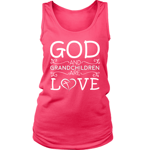 """God and Grandchildren"" Grandma Tank Top Gift for Grandmothers"