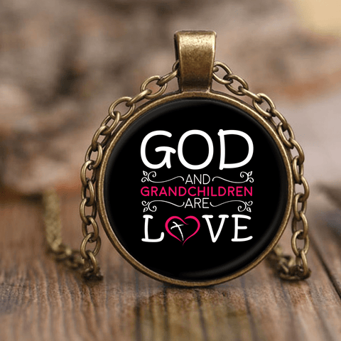 """God and Grandchildren"" Unique Necklace Gifts for Grandmothers"