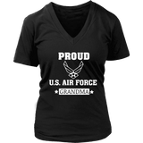 AIR FORCE Grandmother Women's V-Neck T-Shirt Gifts for Grandparents