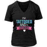 """Tattooed Grandma"" Women's V-Neck T-Shirt"