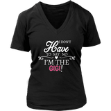"""Say No"" V-Neck Gigi T-Shirt Gift for Gigi"
