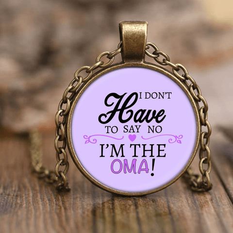 """Say No"" Oma Unique Necklace"