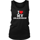 """I Love"" Grandson Tank Top Gift for Grandmother"