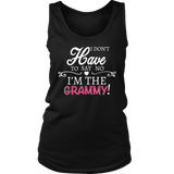 """Say No"" Grammy Tank Top Gift for Grammy"