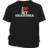 """I Love"" Grandma Youth T-Shirt"