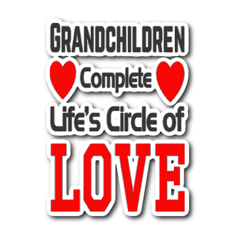 """Circle of Love"" Car Window Sticker"
