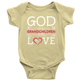 """God and Grandchildren"" Grandkids Baby Onesie"